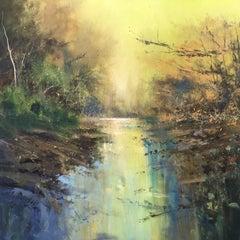 Jonathan Trim, Evening Light, Original Landscape Painting, Contemporary Art