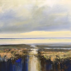 Jonathan Trim, Fading light in the Estuary, Landscape Painting, Affordable Art