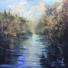 Jonathan Trim, River Silence, Original Impressionist Landscape Painting