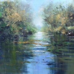 Jonathan Trim, Still Water, Original Landscape Painting, Affordable Art
