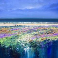 Lavender Beach  original seascape painting Contemporary Art