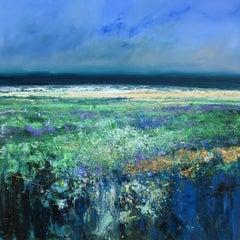 Lavender Sea - original landscape water painting Contemporary 21st Century Art