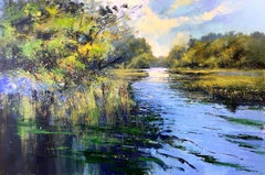 River Elegy - original landscape painting Contemporary 21st C Modern Art