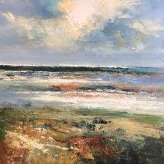 Saltine - original seascape ocean beach painting Contemporary Modern Art