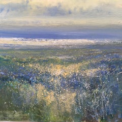 Sea Lavender abstract  landscape painting