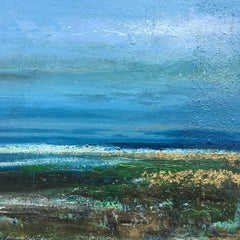 Shoreline I Original sea Landscape Painting Contemporary Art