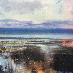 Shoreline II Original sea Landscape Painting Contemporary Art