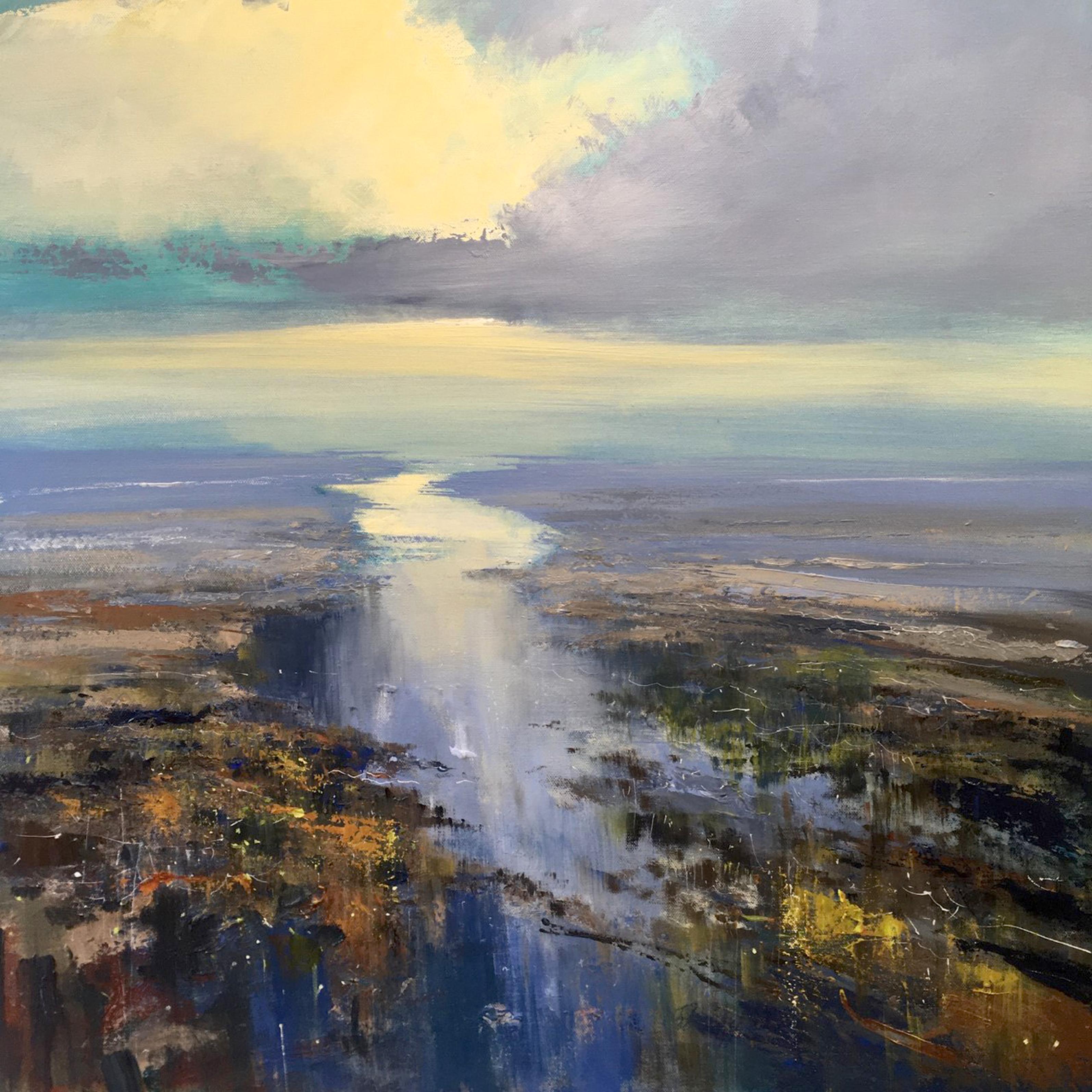 Stillness of the Estuary - seascape painting Contemporary 21st C modern art