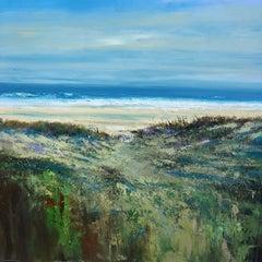 Surf - original seascape water beach painting Contemporary Art 21st Century