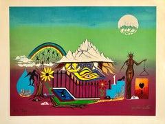 "Hand Signed Screenprint on Canvas Painting Ltd Ed. Hollywood ""Hang Ups"" Pop Art"