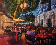 Dinner in Nimes, Oil Painting