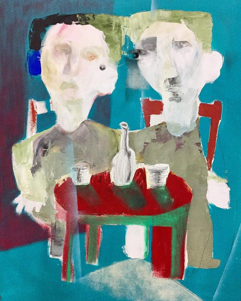 Jongmin Joy Kim Portrait Painting - Fearexultation