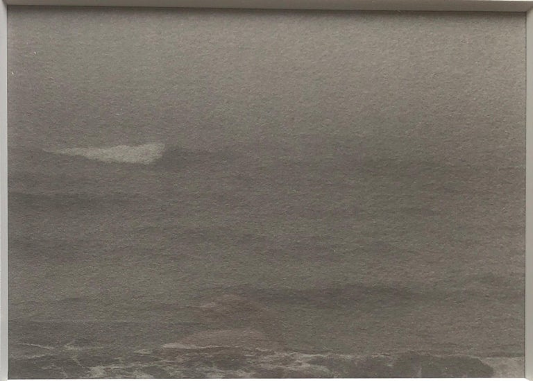 Joni Sternbach Black and White Photograph - Montauk Bluffs, Ocean Photo Vintage Beach Photograph Platinum Palladium Print