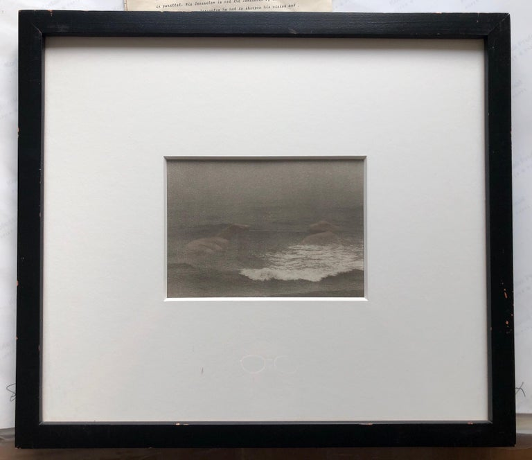 Montauk Bluffs, Ocean Photo Vintage Beach Photograph Platinum Palladium Print  For Sale 2