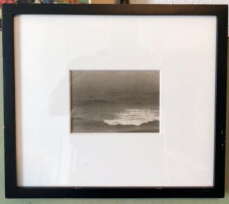 Montauk Bluffs, Ocean Photo Vintage Beach Photograph Platinum Palladium Print  For Sale 3