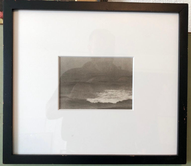 Montauk Bluffs, Ocean Photo Vintage Beach Photograph Platinum Palladium Print  For Sale 4