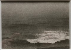 Montauk Bluffs, Ocean Photo Vintage Beach Photograph Platinum Palladium Print