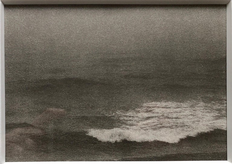 Joni Sternbach Black and White Photograph - Montauk Bluffs, Ocean Photo Vintage Beach Photograph Platinum Palladium Print