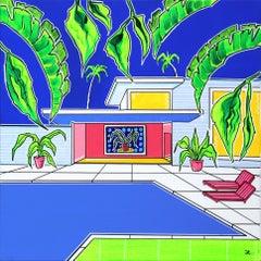 """""""Pool House"""" - Original Painting by Jonjo Elliot"""