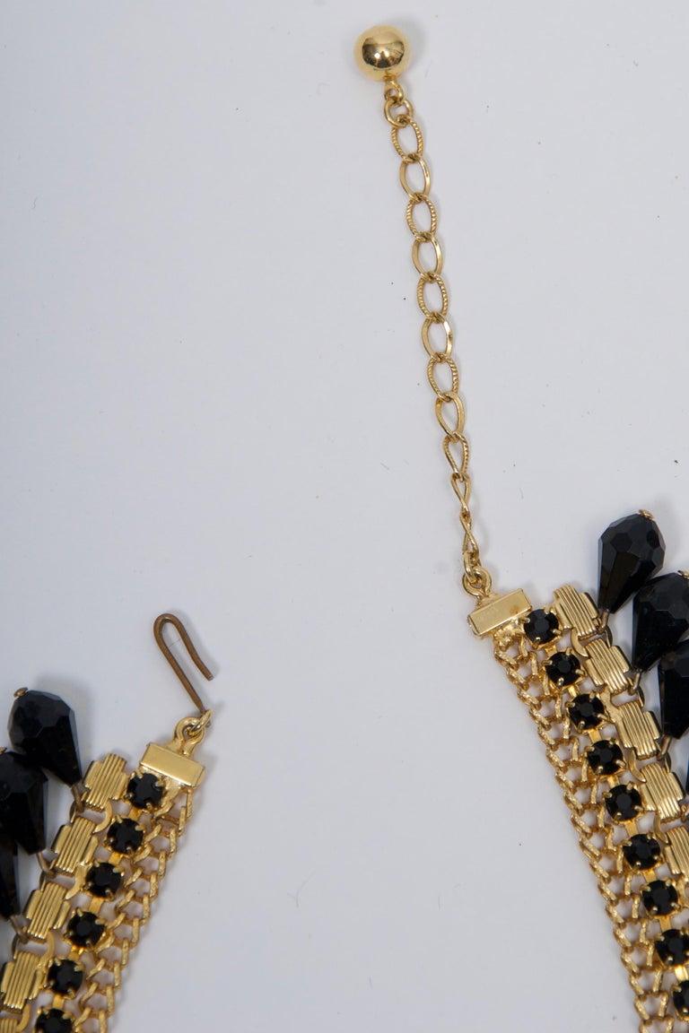 Jonné Bib Necklace with Black Beads For Sale 1