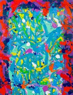 """Breaking Time Apart"" - Painting by artist JonOne"