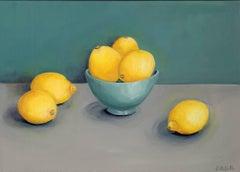 Jonquil Williamson, Lemons,  Original Still Life Oil Painting