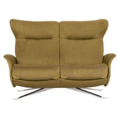 Joop Fabric Sofa Green Olive Green Two-Seat Relax Function Couch