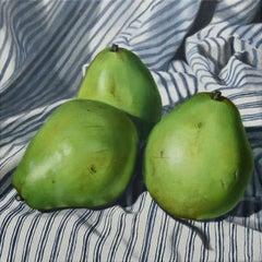 """Truple"" - still life with pears - stripes - realism - Adriaen van Utrecht"