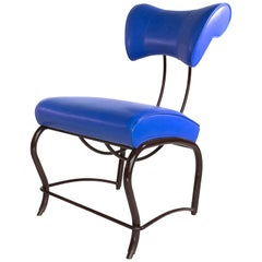 Jordan Mozer, Blue Elbert Chair Times Sq. Variation, Leather+Steel, USA1988/2006
