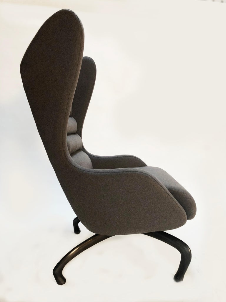 Cantering Lounge Chair, Wool Flannel / Cast Aluminum, Jordan Mozer, USA, 2003/18 For Sale 7