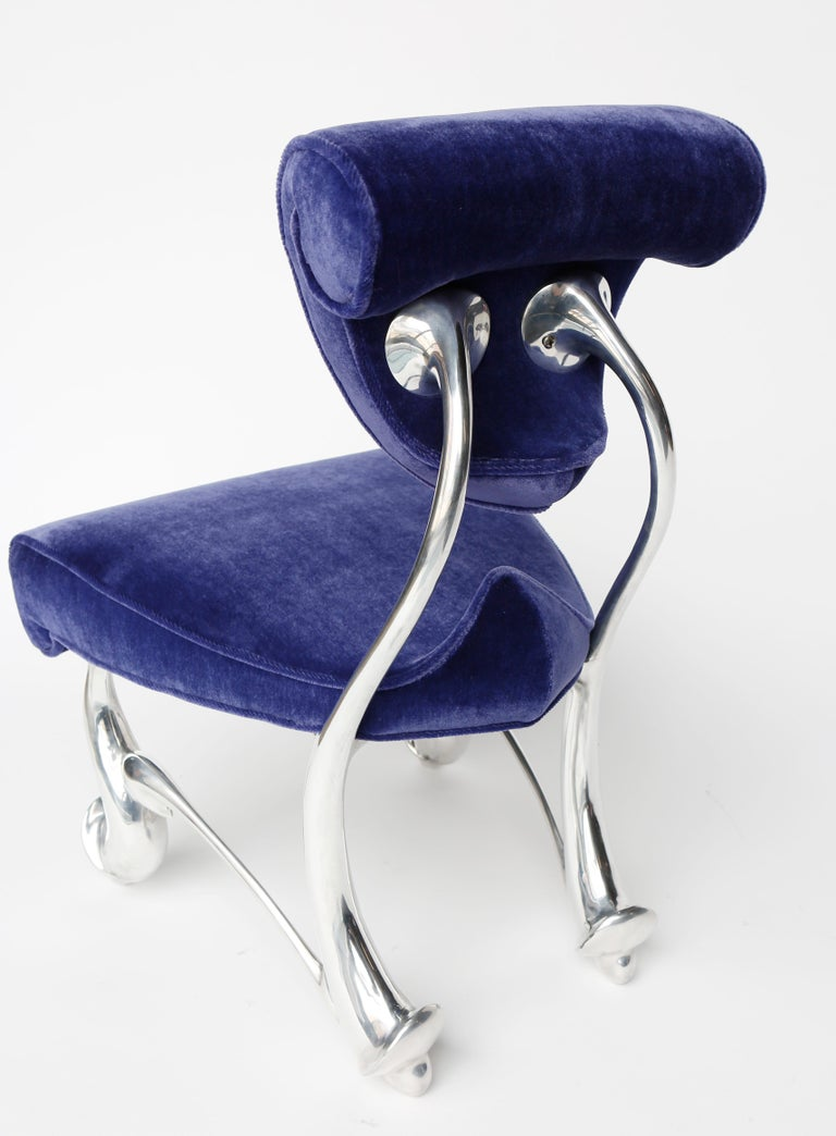 Jordan Mozer, Children's Ballet Chair, Mohair and Cast Aluminum, USA 1992-2018 In New Condition For Sale In Chicago, IL