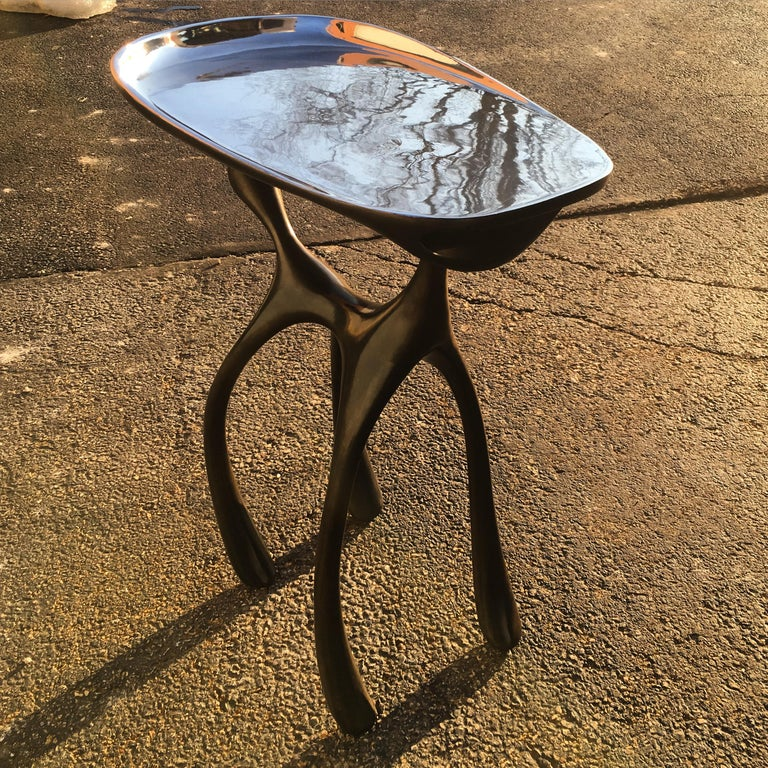 Creature Side Table/Occasional Table, Patinated Cast Aluminum, Jordan Mozer 2008 For Sale 6
