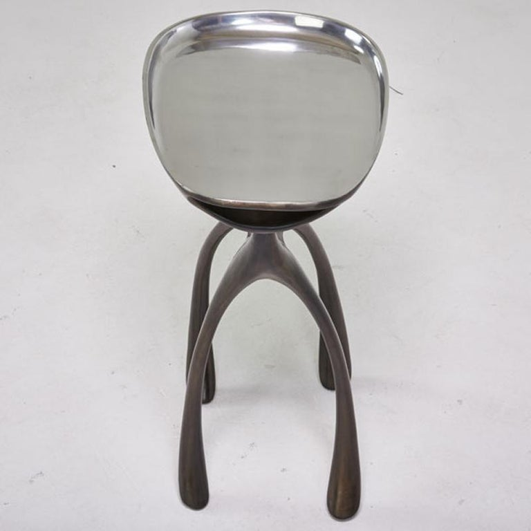 Creature Side Table/Occasional Table, Patinated Cast Aluminum, Jordan Mozer 2008 For Sale 7