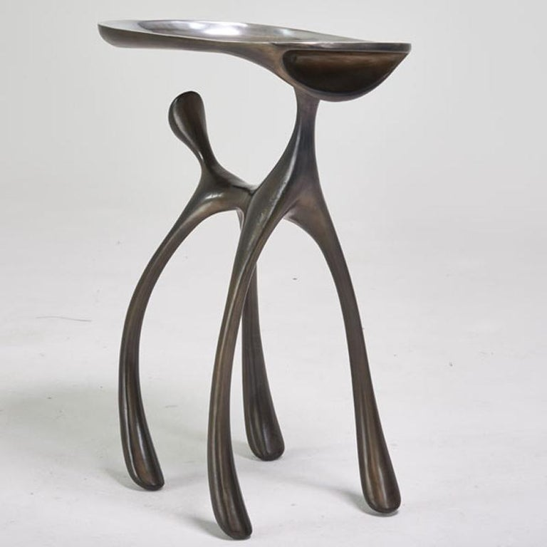 Contemporary Creature Side Table/Occasional Table, Patinated Cast Aluminum, Jordan Mozer 2008 For Sale