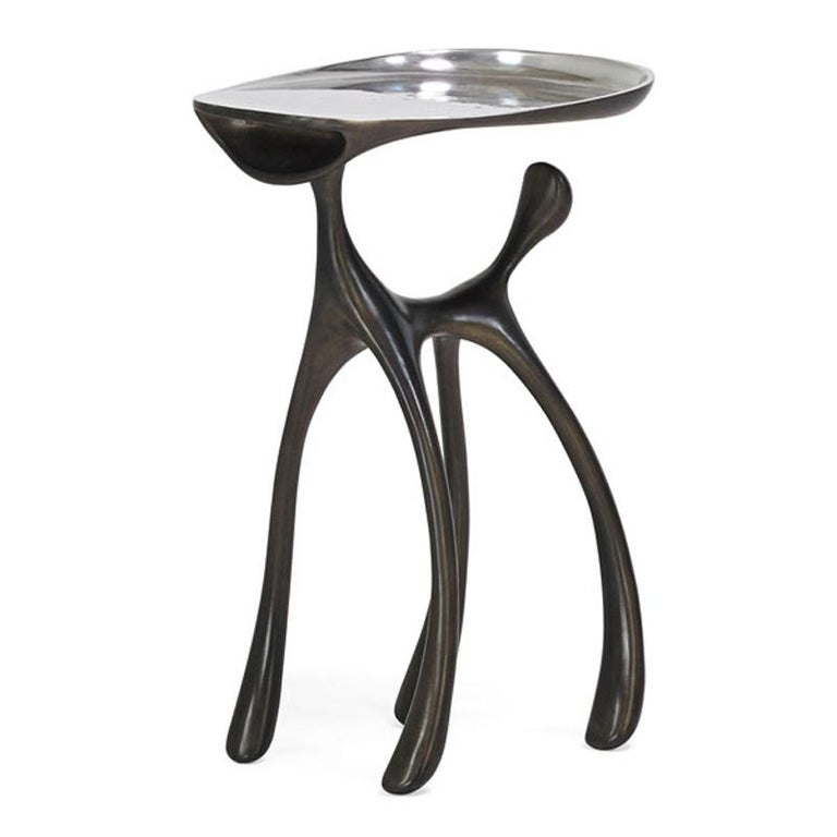 Creature Side Table/Occasional Table, Patinated Cast Aluminum, Jordan Mozer 2008 For Sale 3