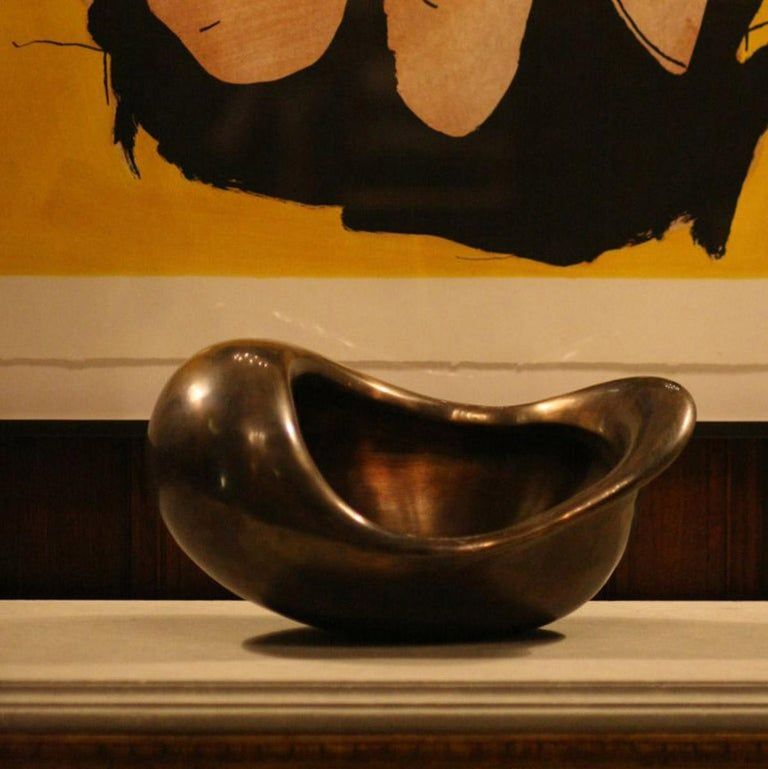 Jordan Mozer (b.1958) The East Bowl. Polished and patinated cast red-bronze. Made in Chicago for the East Hotel in Hamburg, Germany in 2004. Collection of the artist. Signed. Measurements: 19