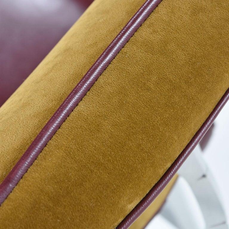 Mohair Disney Quest Aluminum Armillary Chair by Jordan Mozer For Sale