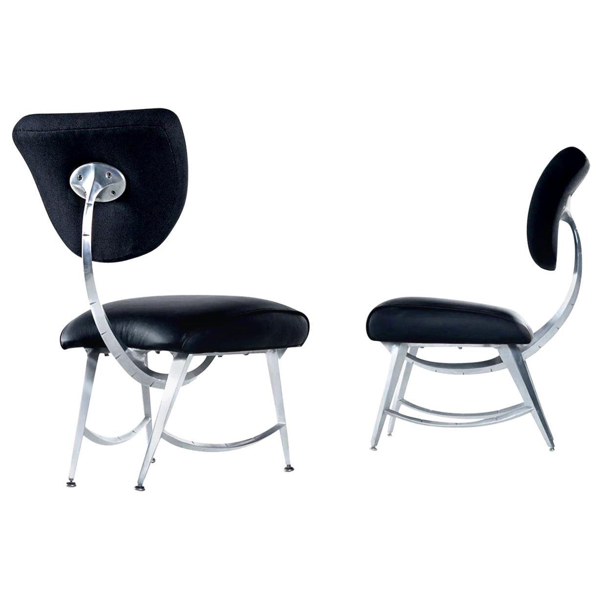 Jordan Mozer for Disney Quest Aluminum Armillary Chairs Set, Fully Restored