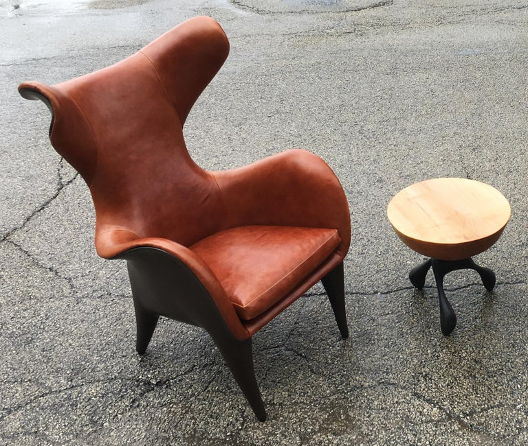 Frankie Wingback Chair Lounge Chair Leather Resin