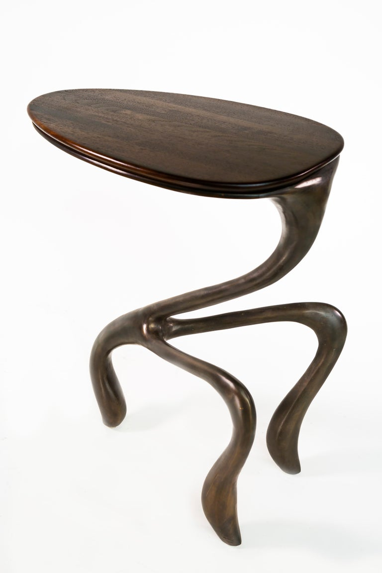 Goosegūß Side Table, Occasional Table, Bronze + Walnut  Jordan Mozer USA 2004 3