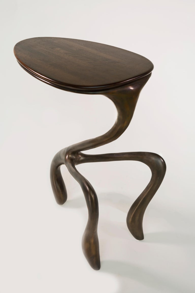 Goosegūß Side Table, Occasional Table, Bronze + Walnut  Jordan Mozer USA 2004 5