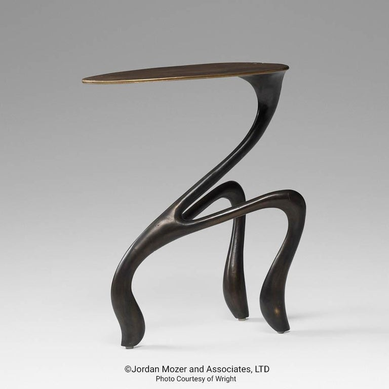Goosegūß Side Table, Occasional Table, Bronze + Walnut  Jordan Mozer USA 2004 8