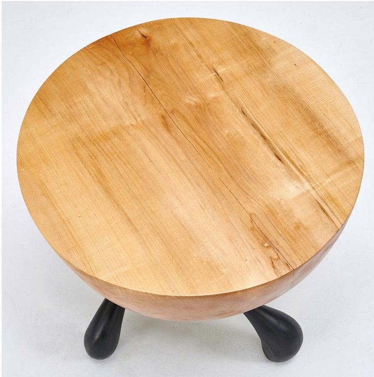 Jordan Mozer, Musashi Side Table, Hand-Carved 4.5
