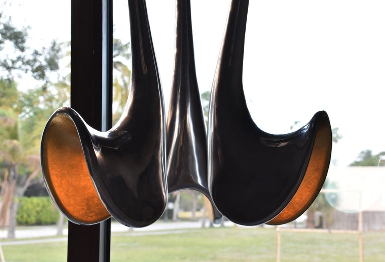 Jordan Mozer, Organic Chandelier, Studio of Artist, Aluminum, Gold Leaf, 2006 For Sale 1