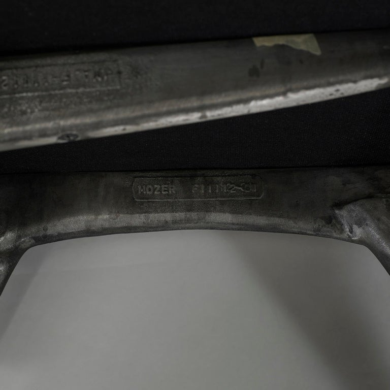 Jordan Mozer, Twiggy Armchair, Patinated Cast Aluminum + Leather, USA 1997/2015 For Sale 2