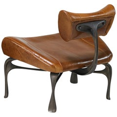 Victory Lounge Chair, Leather + Patinated Cast Aluminum, Jordan Mozer, USA, 2012