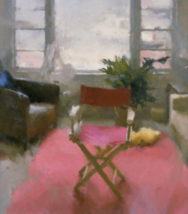 """""""Interior with Red Carpet II"""" Oil Painting"""