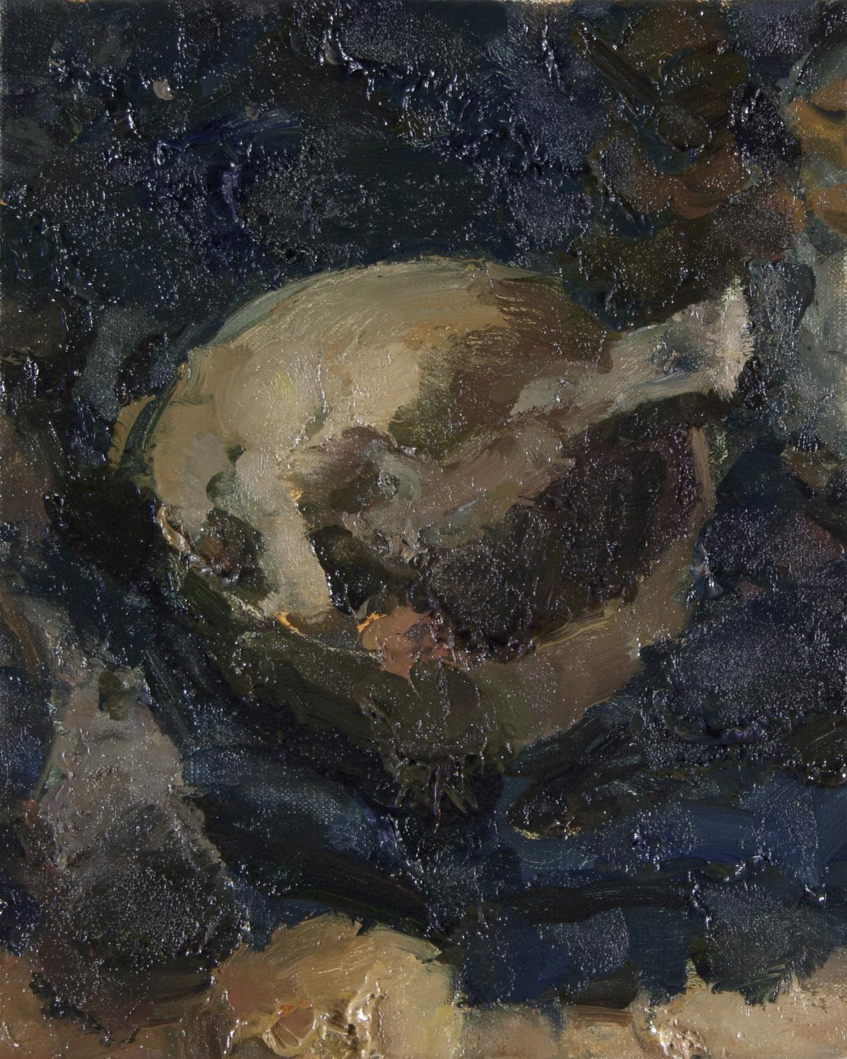 """""""Still Life with Bowl and Bone IV"""" Oil Painting"""