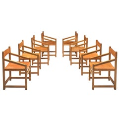 Jordi Casablanca Muntañola Set of Eight 'S5' Dining Chairs