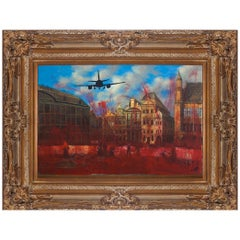 Jordi Mollá Signed and Dated Painting over Classical Oil on Canvas with Frame